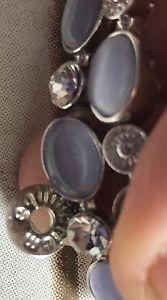 送料無料 ブレスレット アクセサリ― ブレスレットパープルストレッチクリスタルシルバートーンequilibrium stretch bracelet purple and crystal silver toneeuc0n8yPmwOvN