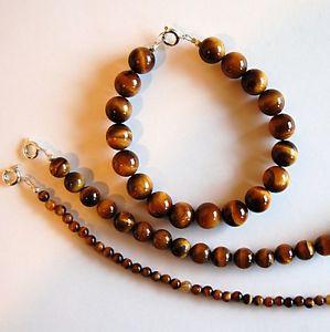 【送料無料】ブレスレット アクセサリ― タイガーアイブレスレットラウンドビーズtiger eye bracelet pretty jewel fine stones round beads 4, 8 or 10mm