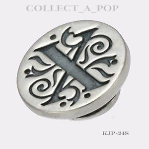 【送料無料】ブレスレット アクセサリ― スターリングシルバーauthentic kameleon sterling silver letter x jewelpop kjp024si
