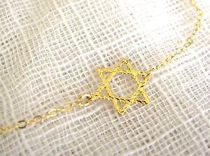 【送料無料】ブレスレット アクセサリ― デビッドブレスレットデビッドゴールドスターkゴールドブレスレットstar of david bracelet, tiny gold star of david, 14k gold filled bracelet, star