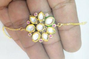 最新作の 【送料無料】ブレスレット アクセサリ― ファッションジュエリーオープンブレスレットブレスレットfashion jewelry goldplated openable kundan bracelet wedding adjustable bracelet, 測定器工具のイーデンキ acdc9b78