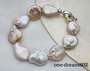 【送料無料】ブレスレット アクセサリ― バロックラベンダーパールブレスレット8 22mm baroque lavender freshwater pearl bracelet