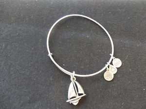 【送料無料】ブレスレット アクセサリ― アレックスアニfree shippingalex and ani sailboat expandable charm bracelet silver tone, free shipping