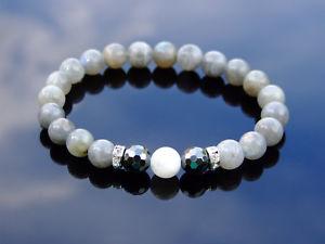 【送料無料】ブレスレット アクセサリ― ムーンストーンブレスレットmoonstonelabradorite natural gemstone bracelet 69 elasticated healing stone