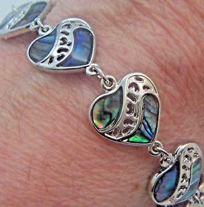 【送料無料】ブレスレット アクセサリ― パウアアワビリンクブレスレットリンクpaua shell abalone natures 1 link bracelet linked wheeler mfg lkb 028 heart