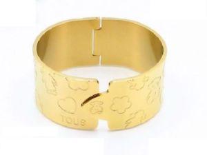 【送料無料】ブレスレット アクセサリ― ステンレスメッキワイドベアブレスレット2018 stainless steel vacuum gold plating hollow wide bear bracelet