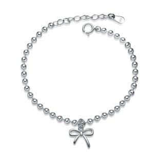 アンマーショップ 【送料無料】ブレスレット アクセサリ― レディーススターリングシルバーボウノットブレスレットladies women s925 sterling silver lovely bowknot bracelet, 大川家具@OHKAWAKAGU 8258a48c