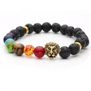 【送料無料】ブレスレット アクセサリ― ×ブレスレットチベットチャクラビーズ20xmen women bracelet tibetan extensible elastic 8 mm 7 chakra lava beads o2o9