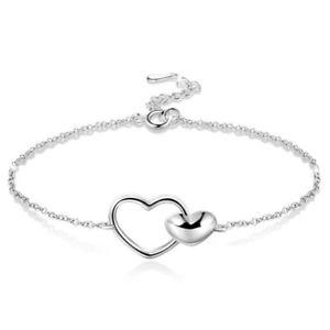 優先配送 【送料無料】ブレスレット アクセサリ― スターリングシルバーブレスレット2x925 sterling silver heart to heart adjustable bracelet for women i9w6, 限定価格セール! b922dbfb