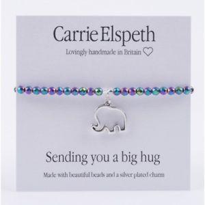 【送料無料】ブレスレット アクセサリ― キャリーエルスペスbb094ブレスレットビッグ bnwtcarrie elspeth bb094 sentiment bracelet sending you a big hug bnwt
