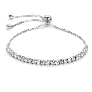 【送料無料】ブレスレット アクセサリ― ブレスレットjfeeクリスマスwomen bracelet jfe adjustable silver plated christmas gift withwithout box