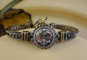 【送料無料】ブレスレット アクセサリ― マルチチェーンアンティークブロンズスナップボタンブレスレット listinggrandma multi chain antique bronze snap button bracelet jewelry women family