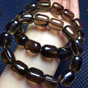 【送料無料】ブレスレット アクセサリ― スモーキーシトリンビーズブレスレットヒーリングストレッチ×natural smoky citrine quartz crystal beads bracelet stretch healing 12*16mm