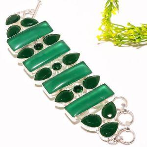 【送料無料】ブレスレット アクセサリ― グリーンオニキスハンドメイドファッションジュエリーブレスレットgreen onyx gemstone handmade fashion jewelry bracelet 78 sb1174