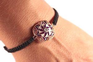 【送料無料】ブレスレット アクセサリ― トルコアメジストエナメルビーズロープスターリングシルバーブレスレットturkish jewelry amethyst enamel beaded rope 925k sterling silver bracelet
