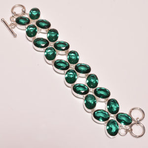 【送料無料】ブレスレット アクセサリ― クリスマスブレスレットhandmade silver plated green quartz gemstone jewelry christmas gift bracelet