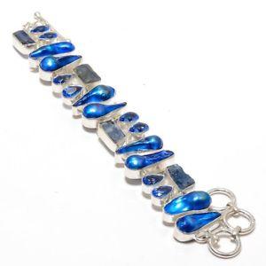 【送料無料】ブレスレット アクセサリ― ゴージャスアパタイトパールブレスレットgorgeous neone apatite rough,pearl amp; blue az gemstone jewelry bracelet 78