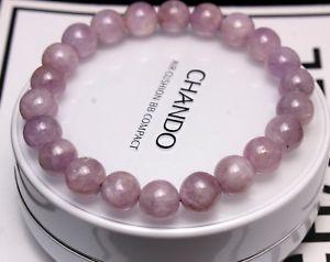 【送料無料】ブレスレット アクセサリ― クリスタルラウンドビーズブレスレット85mm genuine natural purple kunzite crystal round beads bracelet aaa