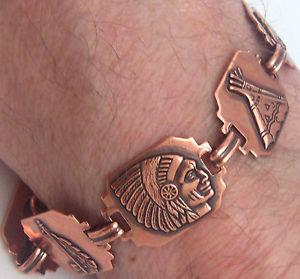【送料無料】ブレスレット アクセサリ― ブレスレットリンクウィーラーデトックスリウマチcopper bracelet linked wheeler detox arthritis healing folklore cb 275