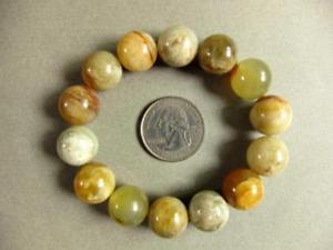 【送料無料】ブレスレット アクセサリ― ブレスレットビーズストレッチbracelet fire jade 14mm round beads stretch ll01