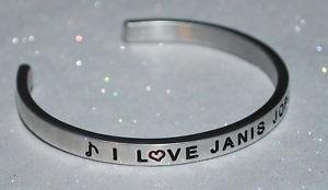 【送料無料】ブレスレット アクセサリ― ジャニスジョプリンハンドメイドブレスレットi love janis joplin  handmade amp; polished bracelet