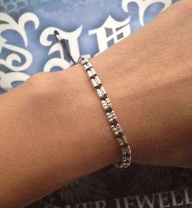 【送料無料】ブレスレット アクセサリ― ブレスレットストリングebe1001handmade friendship bracelet braided wax string silver bead adjustable ebe1001