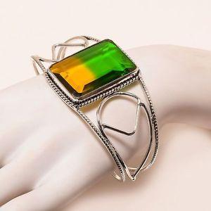 【送料無料】ブレスレット アクセサリ― splendid bicolor toumaline gemstone cuffplated bracelet c26splendid bicolor toumaline gemstone cuff silver plated bracelet