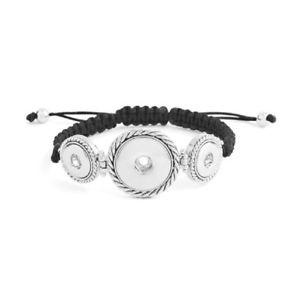 【送料無料】ブレスレット アクセサリ― ジンジャースナップコンボブレスレットプチスナップginger snap woven combo bracelet holds 2 petite and 1 standard snap sn9252