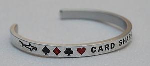 【送料無料】ブレスレット アクセサリ― カードシャークハンドメイドブレスレットcard shark  handmade amp; polished bracelet