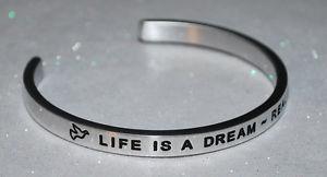 【送料無料】ブレスレット アクセサリ― ハンドメイドブレスレットlife is a dream ~ realize it  handmade amp; polished bracelet