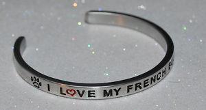 【送料無料】ブレスレット アクセサリ― フランスブルドッグハンドメイドブレスレットi love my french bulldog  handmade amp; polished bracelet