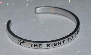 【送料無料】ブレスレット アクセサリ― ハンドメイドブレスレットthe right to bear arms  handmade amp; polished bracelet