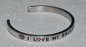 【送料無料】ブレスレット アクセサリ― ブリュッセルグリフォンハンドメイドブレスレットi love my brussels griffon  handmade amp; polished bracelet