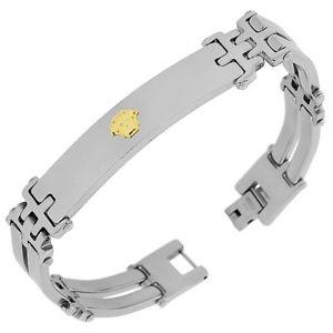 【送料無料】ブレスレット アクセサリ― ステンレススチールシルバーイエローゴールドメンズリンクチェーンブレスレットstainless steel silver yellow gold twotone mens links chain bracelet