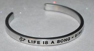 【送料無料】ブレスレット アクセサリ― ハンドメイドブレスレットlife is a song ~ sing it  handmade amp; polished bracelet