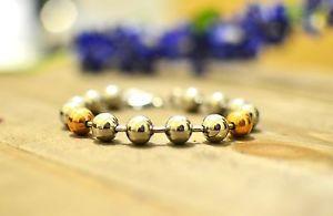 【送料無料】ブレスレット アクセサリ― ステンレススチールローズシルバートーンボールチェーンビーズブレスレットstainless steel rose and silver tone ball chain bead bracelet