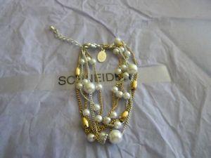 【送料無料】ブレスレット アクセサリ― プレミアデザインメルローズゴールドシルバーパールビーズブレスレットドルpremier designs melrose gold silver pearl bead bracelet rv 28 free ship nwt