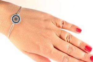 【送料無料】ブレスレット アクセサリ― トルコターコイズジルコンスターリングシルバーブレスレットevil eye turkish turquoise zircon 925k sterling silver bracelet