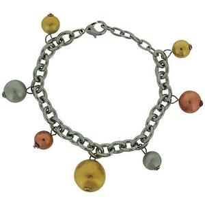 【送料無料】ブレスレット アクセサリ― トリプルトーンボールベルチャーリンクブレスレットエクステンダadorn triple tone ball charms belcher link bracelet 71 extender