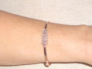 【送料無料】ブレスレット アクセサリ― ドットトライアングルローズゴールドカフブレスレット listingstella amp; dot pave triangle rose gold cuff bracelet gorgeous