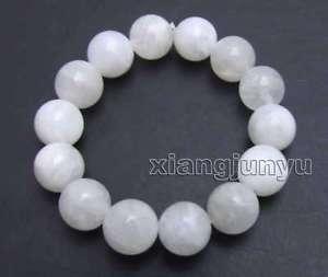 【送料無料】ブレスレット アクセサリ― ホワイトラウンドムーンストーンブレスレットブラbeautiful 14mm white round natural high quality moonstone 75 bracelet bra411