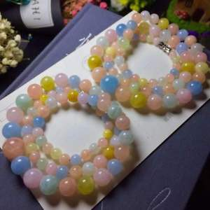 【送料無料】ブレスレット アクセサリ― ファッションサークルラウンドビーズブレスレット512mm fashion natural morganite many circles round beads bracelet girl gift