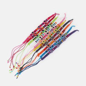 【送料無料】ブレスレット アクセサリ― ロットハンドメイドブレスレットビーズwhole lot mixed 50 handmade friendship bracelets cotton w fish eye beads