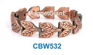 【送料無料】ブレスレット アクセサリ― リンクパワーcbw532leaf women copper link high power magnetic bracelet cbw532