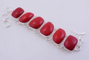 【送料無料】ブレスレット アクセサリ― howliteストーンシルバージュエリーブレスレットf207howlite coral stone silver overlay handmade jewelry bracelet f207