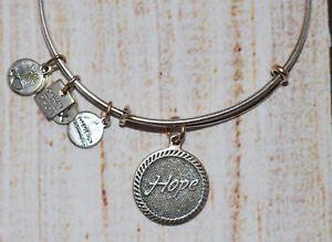 【送料無料】ブレスレット アクセサリ― アレックスアニhopeブレスレット2012alex and ani breast cancer hope charm silver bracelet 2012 rare