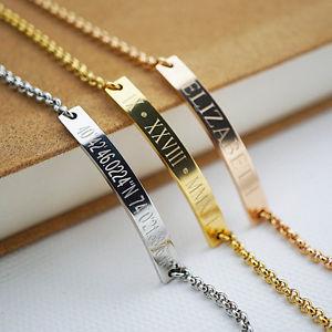 【送料無料】ブレスレット アクセサリ― ブレスレットブレスレットpersonalized bracelet name bar bracelet custom engraved any name date coordinate