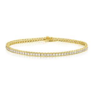 【送料無料】ブレスレット アクセサリ― 14k2x2mmカットテニスブレスレット14k gold plated 2x2mm square princess cut tennis bracelet