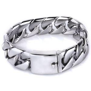 【送料無料】ブレスレット アクセサリ― メンズステンレススチールヒップホップシルバーブレスレットインチmens 20mm stainless steel hip hop silver tone wrist bracelet 866 inches