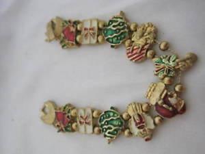 【送料無料】ブレスレット アクセサリ― ヴィンテージtofaスライドクリスマスブレスレットグリーンレッドvintage tofa slide christmas bracelet gold green red